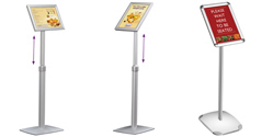 Free Standing Menu Displays