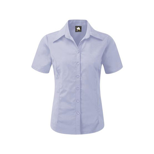 The Classic Ladies Oxford Short Sleeve Blouse (5550)