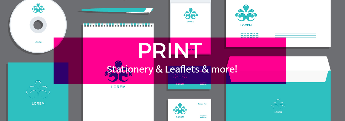 banner stationery and leaflets1